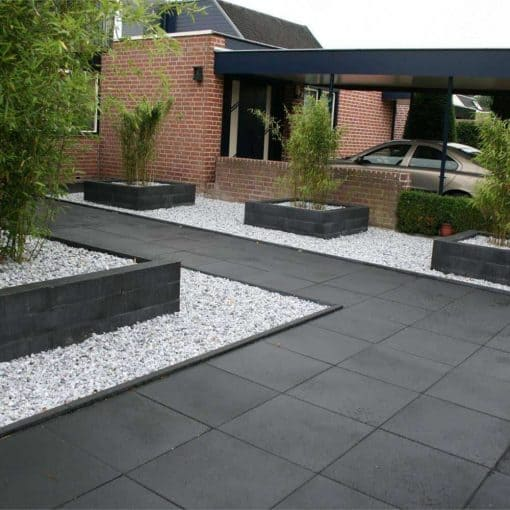 Zwarte Betontegels 60x60.Budget Tile 60x60x4 Cm Nero