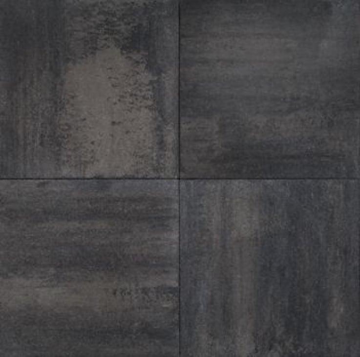 Velvet Tile Grijs/Zwart strak