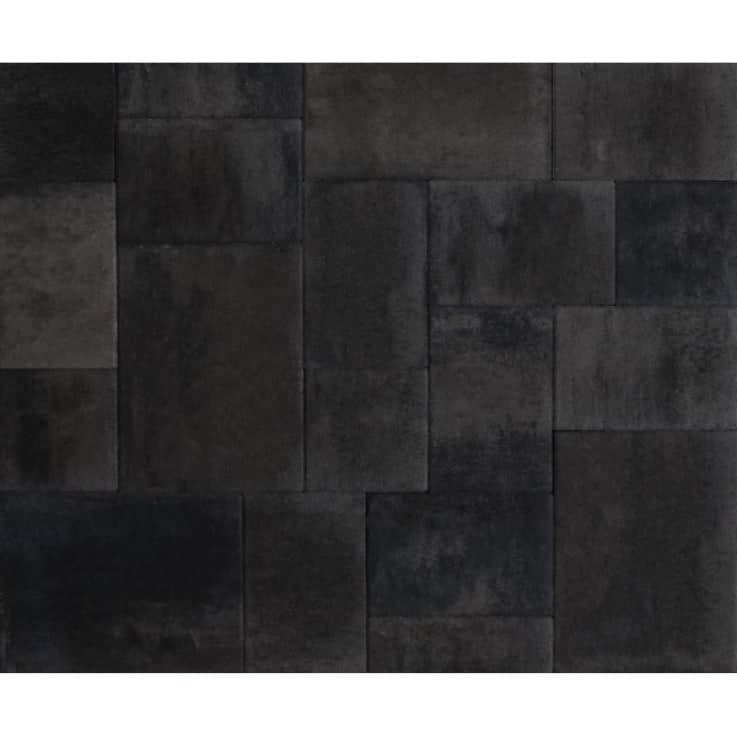 Velvet Tile Zwart strak