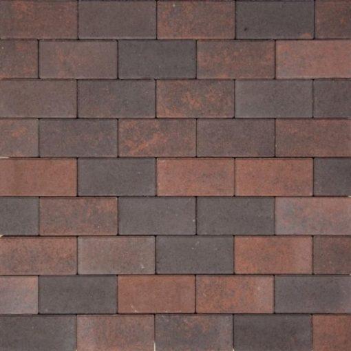 Betonstraatsteen bruin/zwart met deklaag